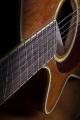 Still life acoustic guitar