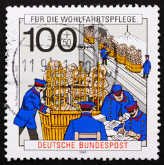 Postage stamp Germany 1990 Post Office, 1900