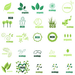 Ecology Icons Set - Isolated On Background