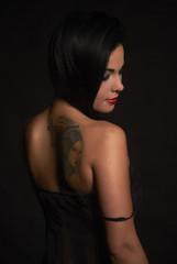Beautiful sexy glamorous girl with tattoos