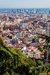Blick auf Barcelona, Spanien
