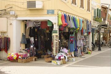 Tourist shop in Lefkas town, Greece