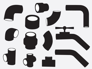 Pipes set illustration