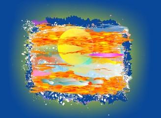 Impresja na temat słońca,