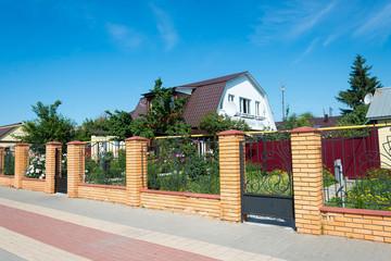 Wonderful family house a brick fence
