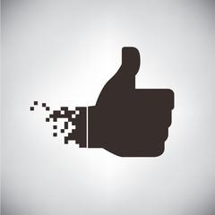 pixel thumb up