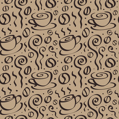 Seamless Coffee background.