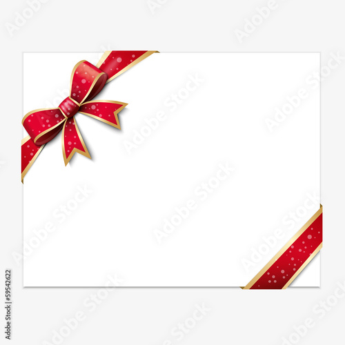 carte cadeau noeud rouge fichier vectoriel libre de droits sur la banque d 39 images. Black Bedroom Furniture Sets. Home Design Ideas