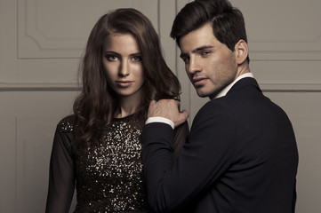 Elegant lovely couple