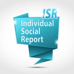 origami speech bubble : individual social report (cs5)