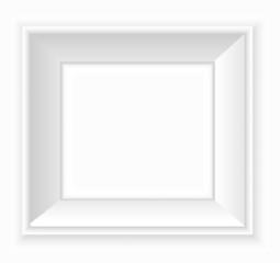 White blank square frame VECTOR