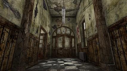 Obraz 廃墟 - fototapety do salonu