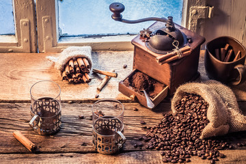 Fototapete - Smell of freshly ground coffee