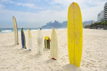 Surfboards Ipanema Beach Arpoador Rio de Janeiro