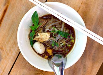 Close up Thai noodle