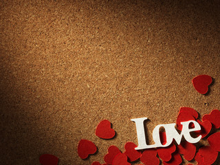 """Holidays card with word """"love"""" and heart"""