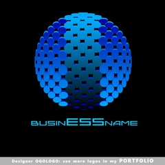 ball, planet, globe, abstract business logo emblem vector