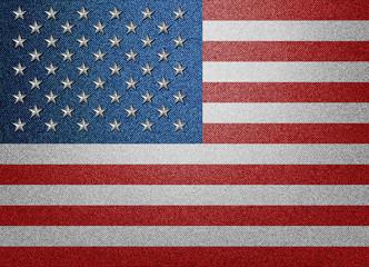 Denim USA flag with metal stars