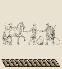Old greek soldiers
