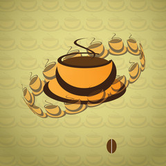 Coffee Cup with Abstract Background
