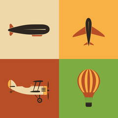 Retro Aircraft Icon Designs