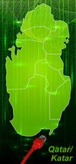 Katar mit Grenzen in dem neuen Netzwerkdesign