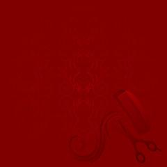 roter Hintergrund für Beauty Salon