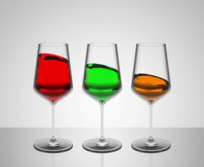 Die Weingläser