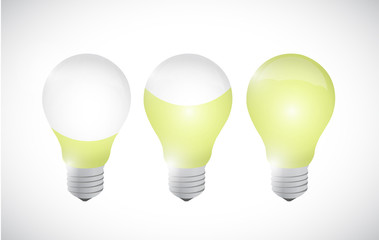 color idea light bulb illustration design