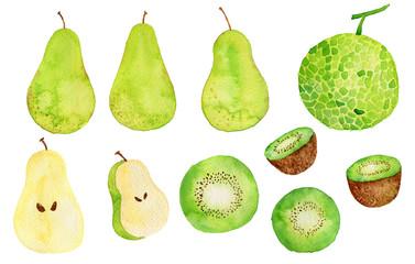 緑のフルーツ