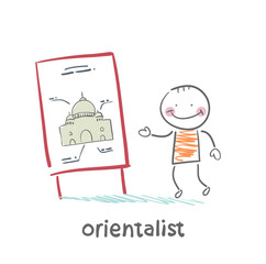Orientalist tells people about the east