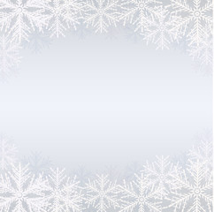 Winter background with white snowflakes