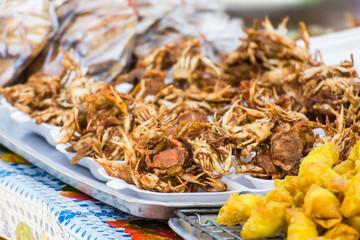 fry food in Thai market