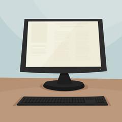 screen television, computer monitor / cartoon vector and