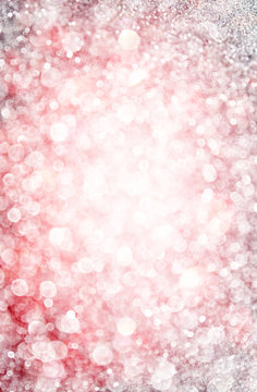 white silver and pink abstract bokeh lights. defocused backgroun