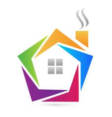 Vector of abstract house logo