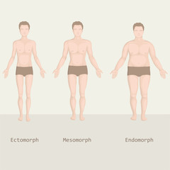 man body types, from fat to fitness, before and after