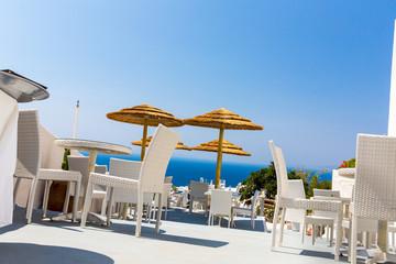 View of Fira town - Santorini island,Crete,Greece