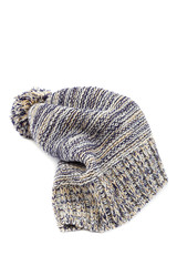 Cold winter clothing - checkered hat or cap.