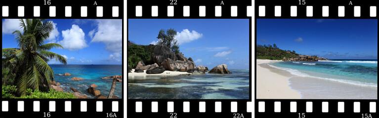triptyque souvenir en diapos sur les seychelles