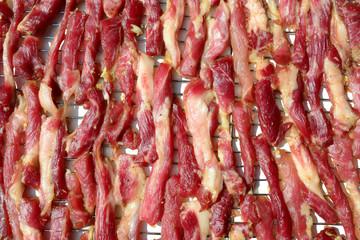 Raw dried pork