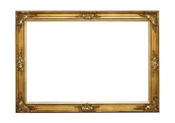 Empty golden frame