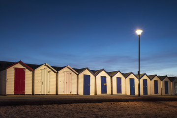Beach Huts at Goodrington, near Paignton, Devon, UK