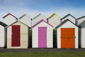 Beach Huts at Broadsands, near Paignton, Devon, UK