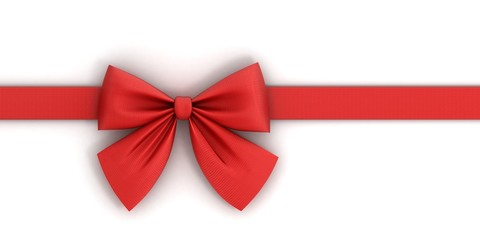 red bow. isolated on white