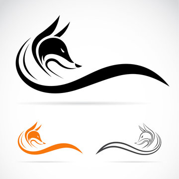 Vector of fox design on white background. Animal. Easy editable layered vector illustration.