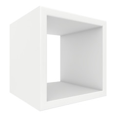 rotated white shelf