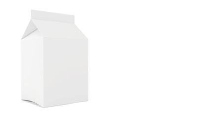 Blank juice or milk package