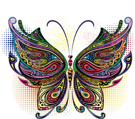 Variegated butterfly I