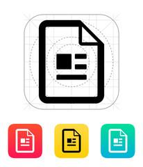 Publication file icon.